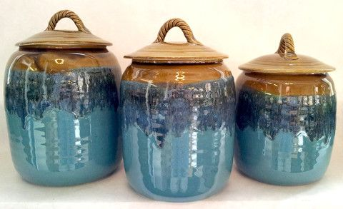 35 Best Pottery Canister Sets Images On Pinterest