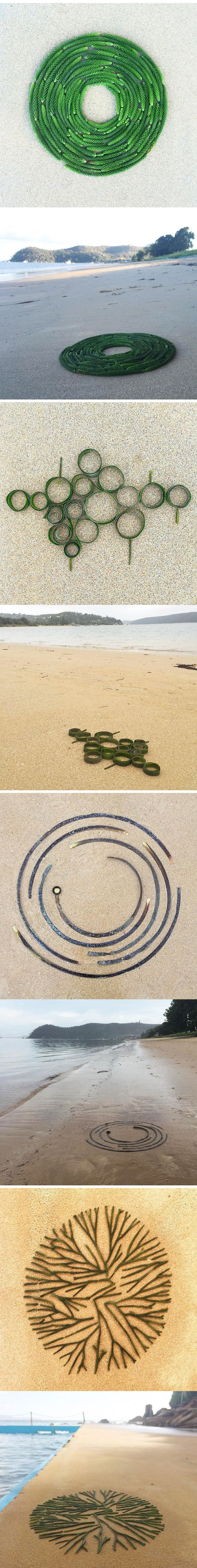 leonie barton (beach debris turned into art. daily project)