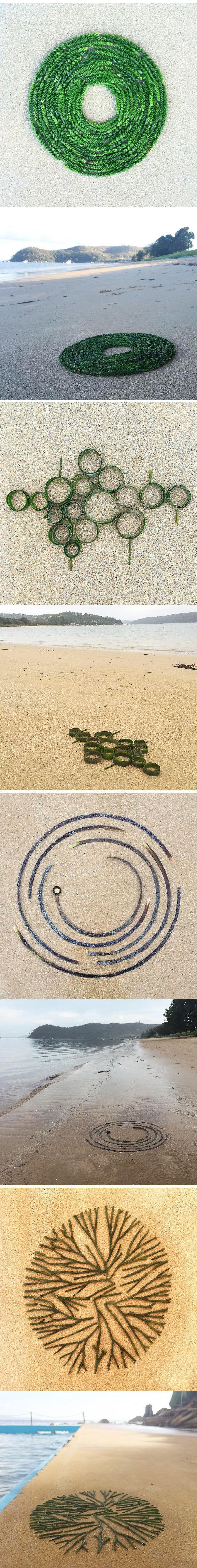 leonie barton (beach debris turned into art. daily project) More