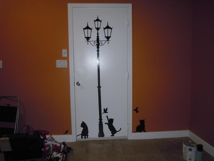 a different look for a plain door :-): Design Ideas, Plain Doors