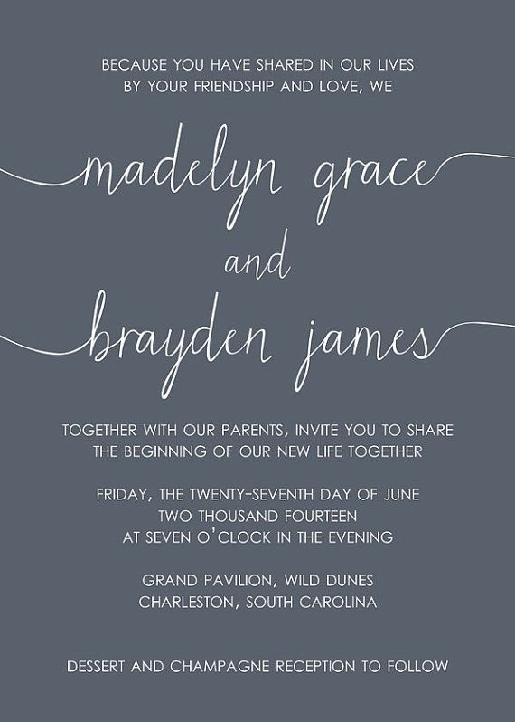 Scribble Wedding Invitation and RSVP Set by SimplySmittenDesigns