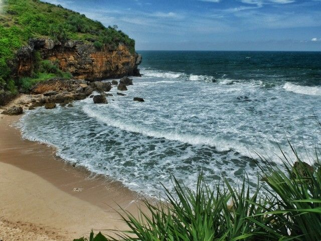 Ngedan Beach - Hidden beaches in Gunung Kidul, Central Java, Indonesia