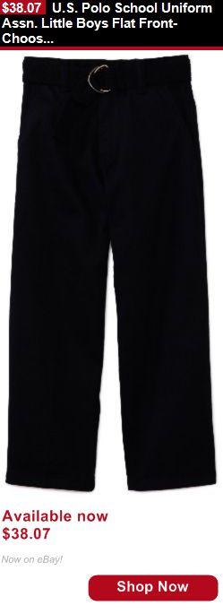 Boys uniforms: U.S. Polo School Uniform Assn. Little Boys Flat Front- Choose Sz/Color. BUY IT NOW ONLY: $38.07
