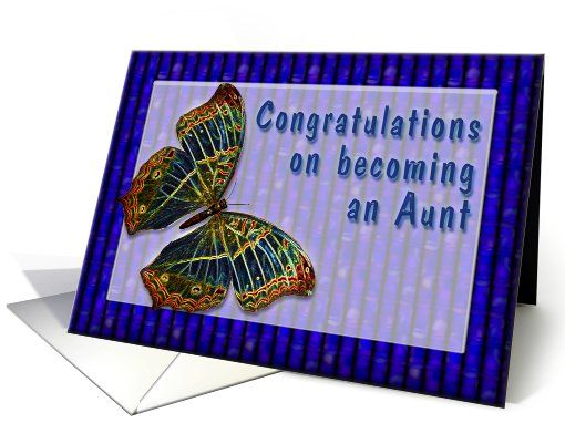 Congrats New Aunt Cloisonne Butterfly Card