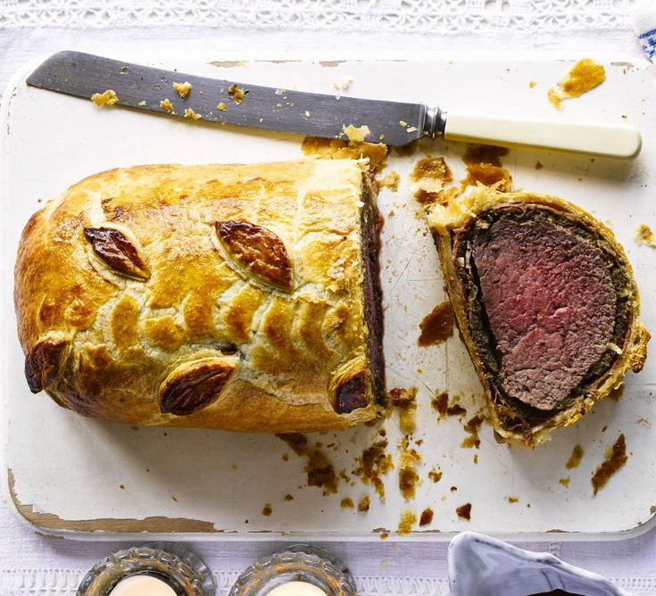 This impressive take on beef Wellington sees lean fillet steak spead with Stilton and wrapped in pastry - perfect to wow dinner party guests