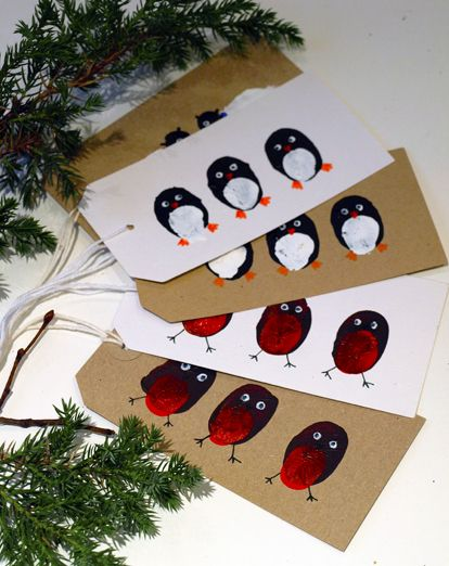 Thumbprint Animal Gift Tags