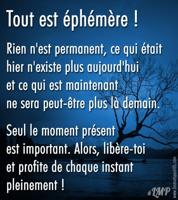 Seul Le Moment Present Est Important Le Moment Present