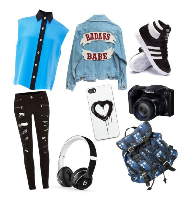 """""""Random Outfit #1"""" by epic-skater ❤ liked on Polyvore featuring FAUSTO PUGLISI, River Island, adidas, Zero Gravity and Beats by Dr. Dre"""