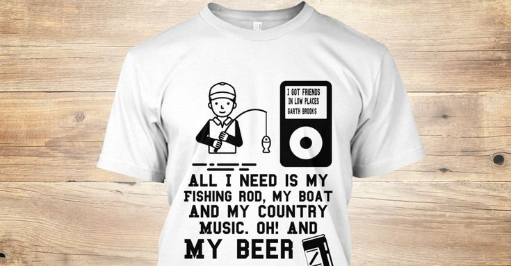 Discover Fishing &Amp; Country Music T-Shirt, a custom product made just for you by Teespring. With world-class production and customer support, your satisfaction is guaranteed. - I Got Friends In Low Places Garth Brooks All...