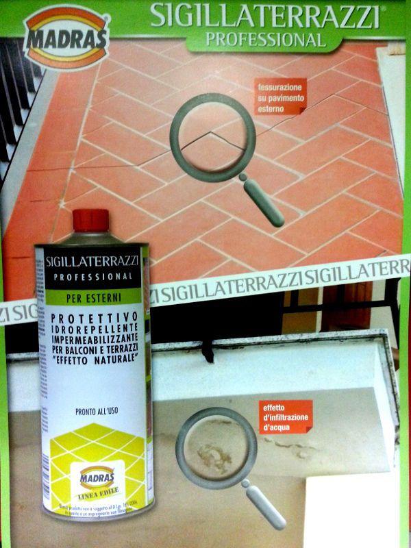 OFFERTA!!! 25€ + IVA contattaci sulla nostra pagina pinterest o su facebook https://www.facebook.com/pages/Ierace-Ceramiche/1383972568522145  SIGILLATERRAZZI, Impermeabilizzante per terrazzi, 1 Lt, MADRAS
