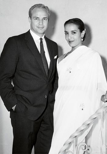 Actor Marlon Brando was married to his first wife, actress Anna Kashfi, 1957-1959.