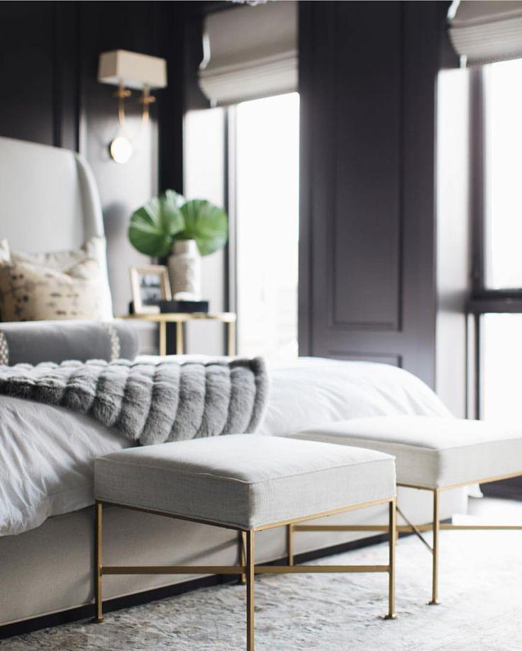 93 Best BLACK, WHITE & GOLD BEDROOM Images On Pinterest
