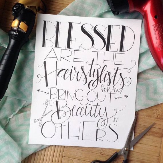 Blessed are the Hairstylists Salon Stylist Gift by HandwrittenWord