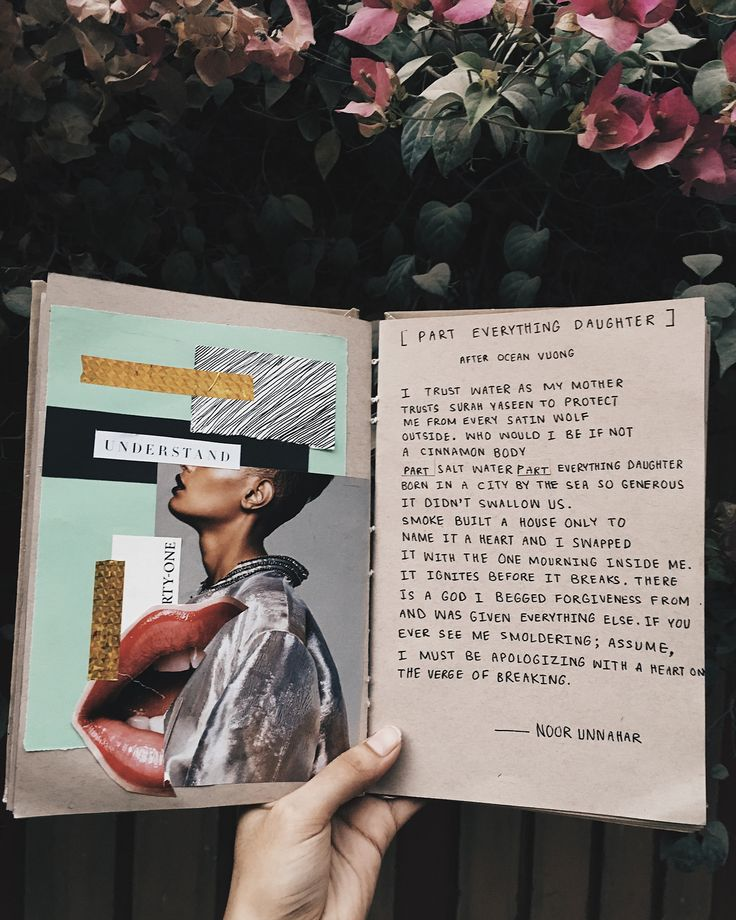 [Part Everything Daughter] After Ocean Vuong || art journal + poetry by Noor Unnahar  journaling ideas inspiration craft diy scrapbooking collage mixed media scrapbook, tumblr indie pale grunge hipsters beige aesthetic, women writers of color writing poetic artsy words quotes, creative artists instagram photography studyblr notebook diary
