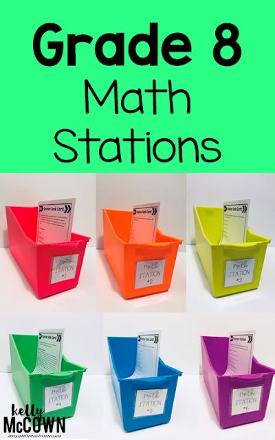 Kelly McCown: 8th Grade Middle School Math Stations