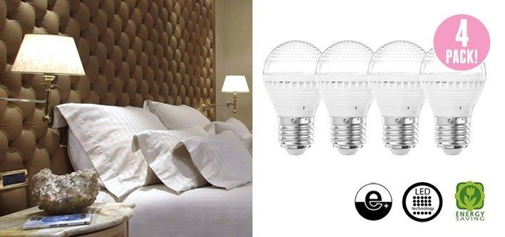 $15 for a 4-Pack of Energy-Efficient Warm White 5 Watts LED Lights - Tax Included (Up to $40 Value)