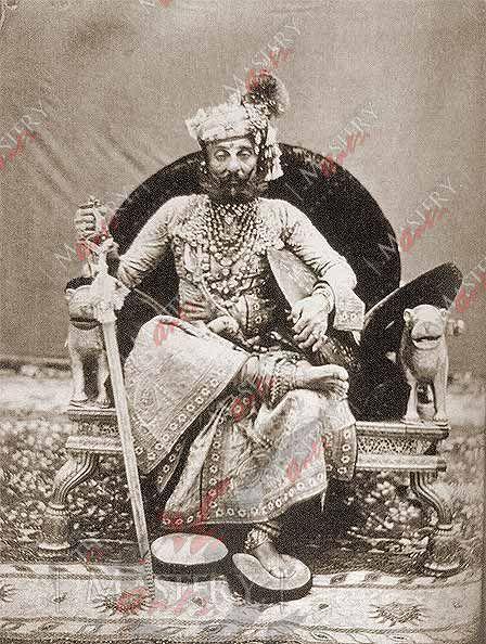 Antique Photo Canvas / Paper Print-Indian Vintage Kings