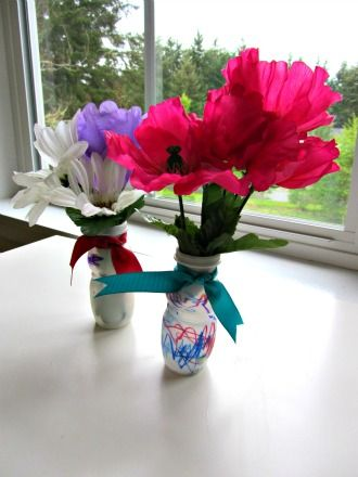 mother's day vase craft for kids