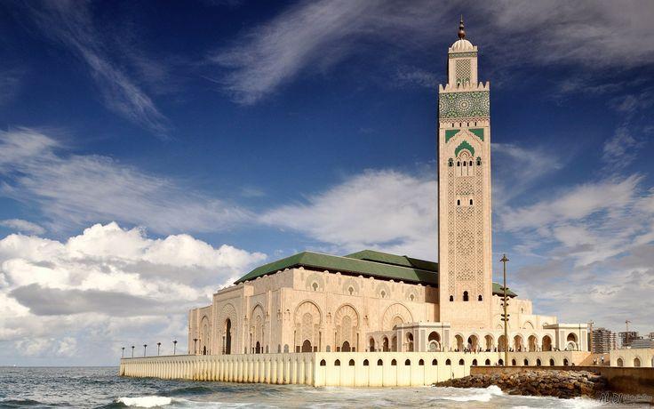 Hassan II Mosque in Casablanca http://www.aldiphotogallery.com/