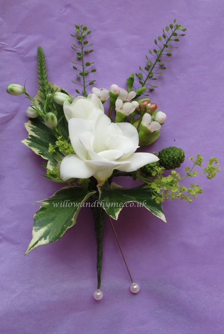 Freesia with waxflower & bud material