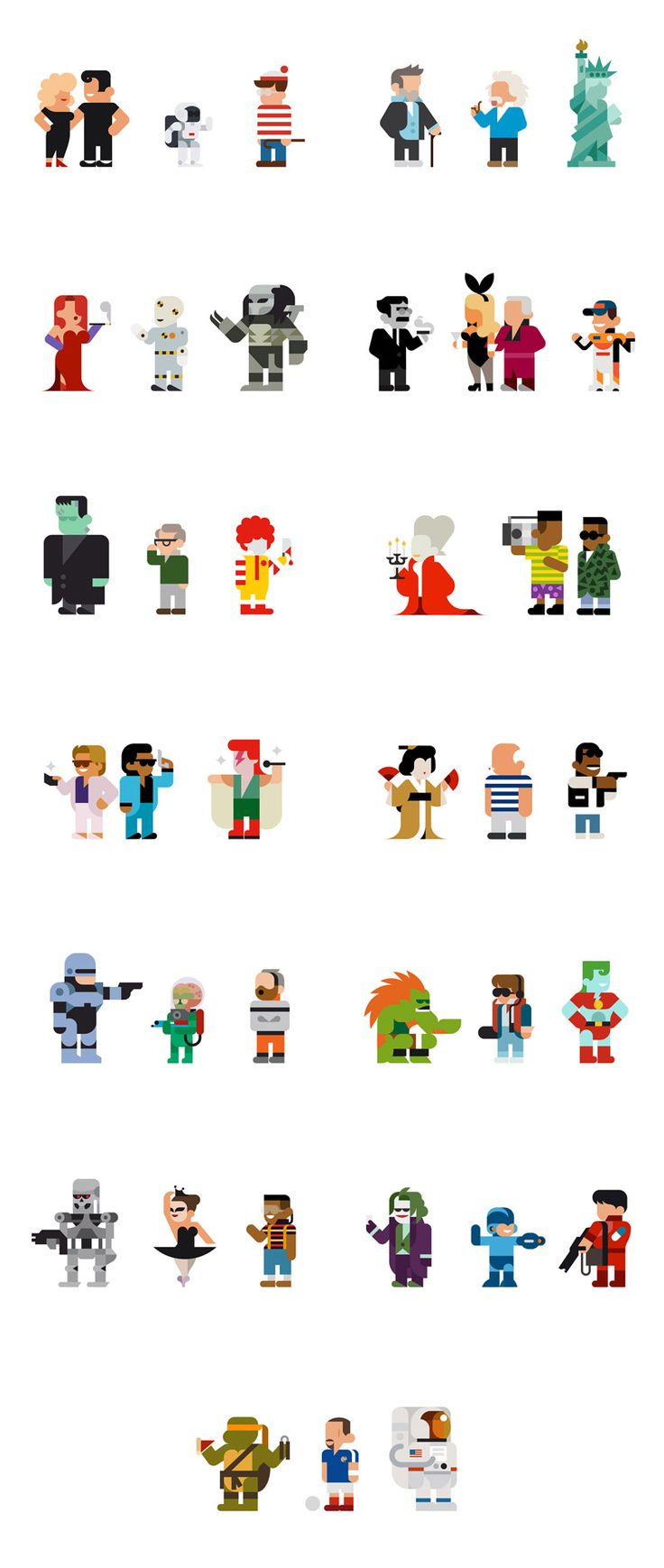 Every Hey - Personal daily illustration project by Barcelona based Hey studio. They create and post one icon per day of popular characters from pop culture, tv, and cinema.