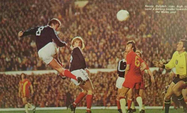 Wales 0 Scotland 2 in Oct 1977 at Anfield. Kenny Dalglish makes it 2-0 with a header in the World Cup Qualifier.
