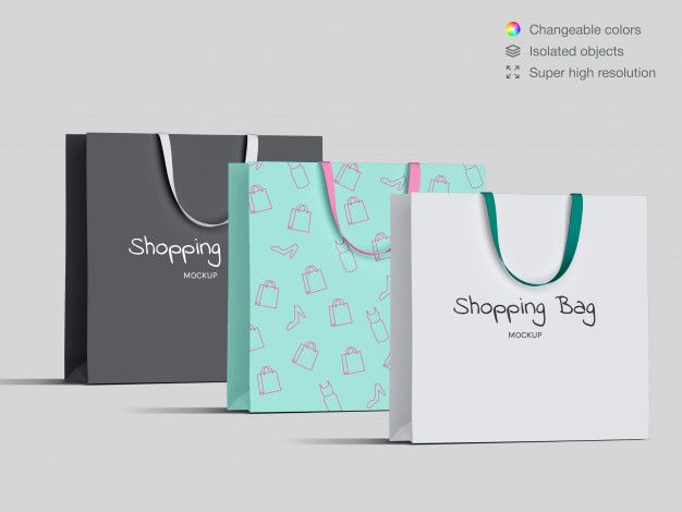 Download Front View Shopping Paper Bags Mockup Template Bag Mockup Mockup Template Paper Bag