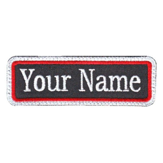 Rectangular 1 Line Custom Embroidered Name Tag by ThePatchLab