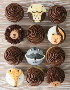 woodland animals fondant toppers - Google Search