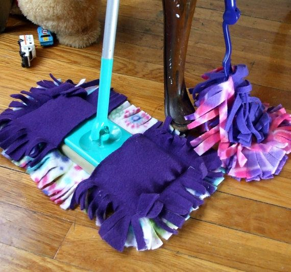 Set of 2 Reusable Duster and Sweeper Cover for Swiffer type Cleaners YOU CHOOSE COLORS