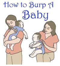 When to burp a baby, burping in sitting position and on the shoulder, tips for burping newborns, and knowing when baby has burped enough.
