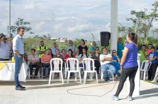 Juan Pablo Gallo Maya con Sara José López Bueno como invitada, entregó en la mañana de este martes el nuevo escenario de tiro con arco