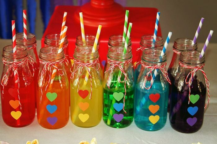 Rainbow themed birthday party via kara's party ideas! full of decorating ideas, dessert, cake, cupcakes, favors and more! KarasPartyIdeas.com #rainbows #rainbowparty #rainbowcake #partyplanning #partyideas #eventstylign #partystyling #partyideas (8)
