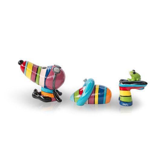 Niloc Pagen 'Swimming Hot Dog' Rainbow Large - De Koekjesdief - Online winkel voor (H)eerlijke huisdierproducten