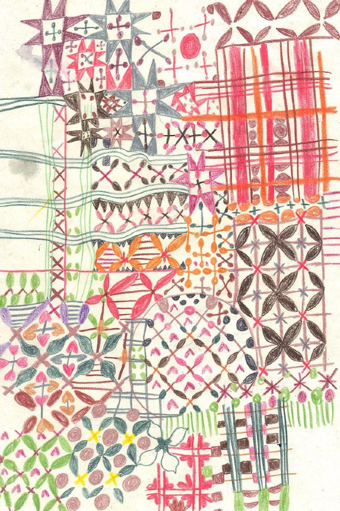 beautiful drawn patterns - walkyland, monika forsberg