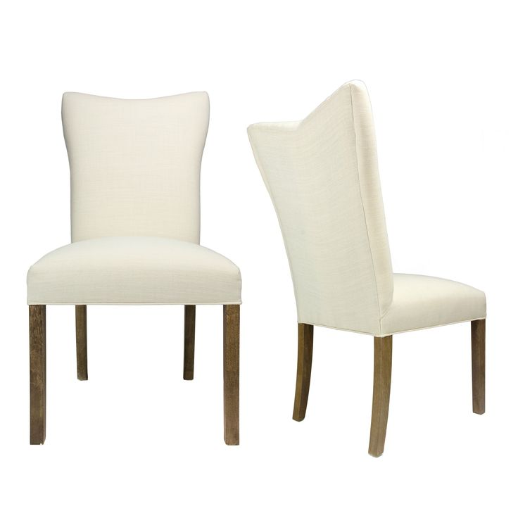 Sole Designs Italia Allure Walnut Legs and Upholstered Dining Chairs (Set of 2) (White) (Foam)