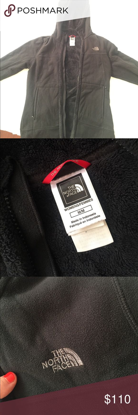 The North face zip up cozy sweatshirt Cozy, fleece lined hooded zip up sweat shirt from The North Face. Cozy and warm! Size medium! True to size The North Face Jackets & Coats