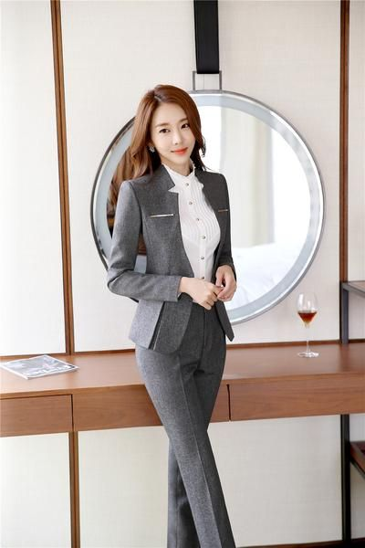 Formal Office Lady Blazers Women Black Blue Slim Fit Long Sleeve Suit Casual Autumn Winter Coats Fashion Work Suits Woman Tops Reliable Performance Back To Search Resultswomen's Clothing