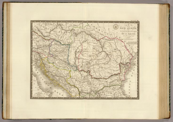 Old Dacian Kingdom 1829 map