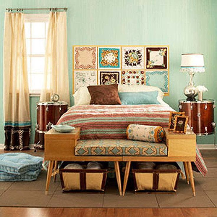 Bed Bench and Wall Decorations
