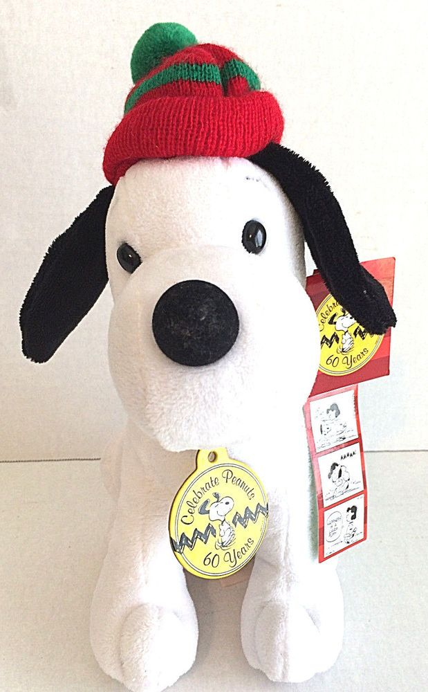 "Celebrate Peanuts 60 Yrs Plush  Snoopy 8"" Stuffed Animal 1960s DanDee"