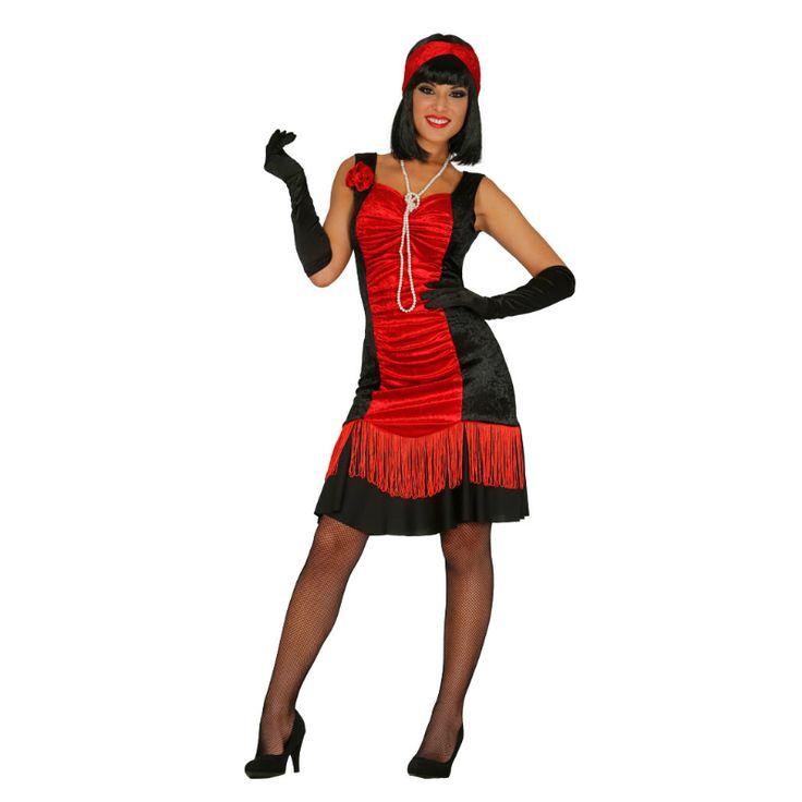 Disfraz de Charlestón Negro y Rojo #disfraces #carnaval #novedades2015