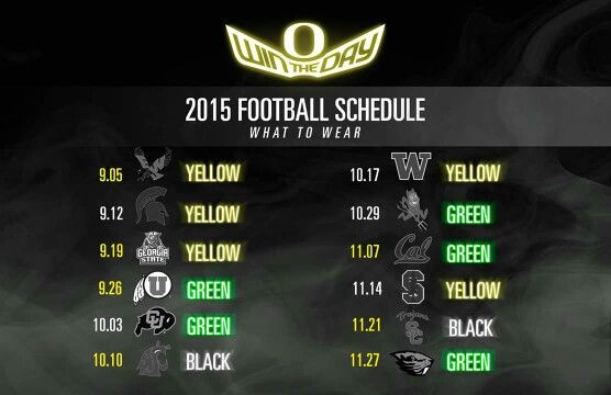 2015 oregon ducks color schedule..yessss i so happy my ft.ball is back ooohh  how I missed u..❤❤
