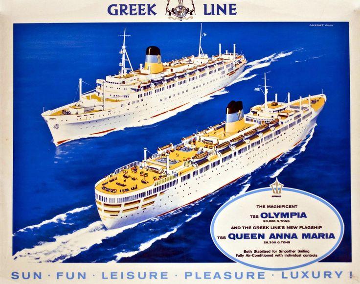 Διαφημιστική αφίσα της GREEK LINE
