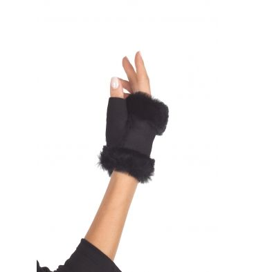 Malloni - Gloves - 300162 - Black - 14900   Sheepskin gloves. Without fingers. Composition 100% real leather. Made in Italy.