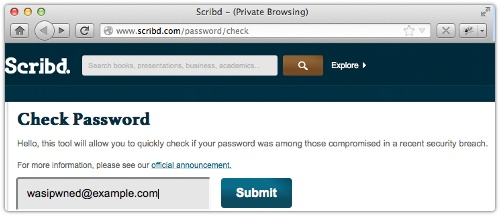 "Scribd, ""world's largest online library,"" admits to network intrusion, password breach"