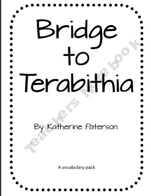 43 best Bridge to Terabithia Activities images on