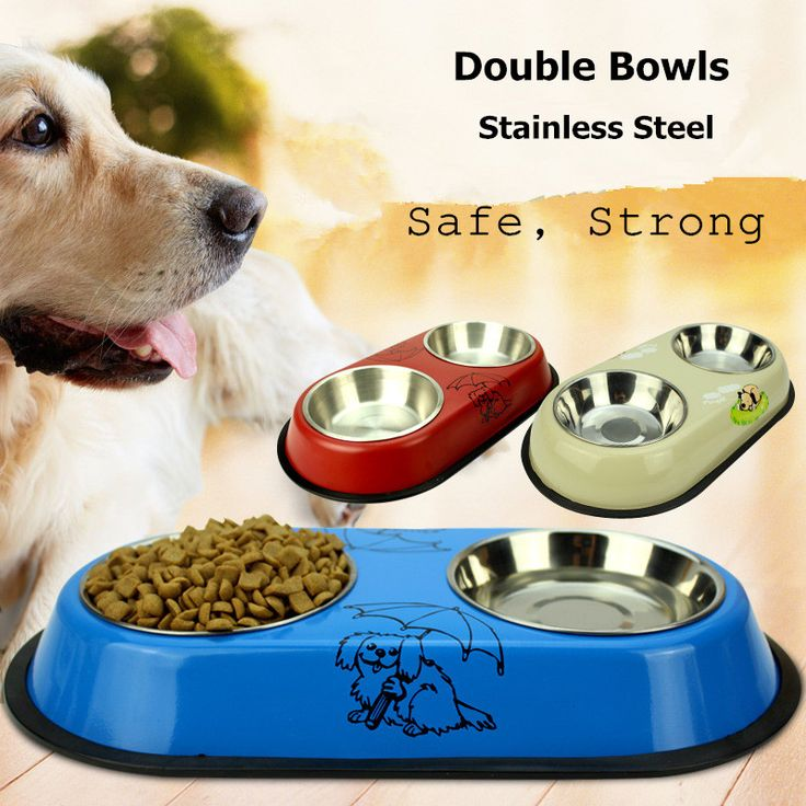 1pc S/L Double Bowls Design Stainless Steel Anti-skid Pet Dog Cat Food Water Bowl Pet Feeding Bowls Tool Dog Feeders 1932DF // FREE Shipping //     Buy one here---> https://thepetscastle.com/1pc-sl-double-bowls-design-stainless-steel-anti-skid-pet-dog-cat-food-water-bowl-pet-feeding-bowls-tool-dog-feeders-1932df/    #catoftheday #kittens #ilovemycat #lovedogs #pup