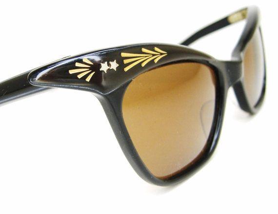 Vintage 50s Winged Cat Eye Sunglasses Eyewear by Vintage50sEyewear, $89.00