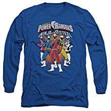 Power Rangers Team Lineup Adult T-Shirt